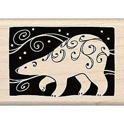 Inkadinkado Polar Bear Wood mounted Rubber Stamp LL