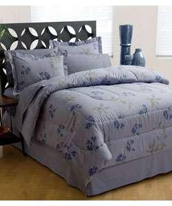 Indigo Floral Bed in a Bag  Overstock