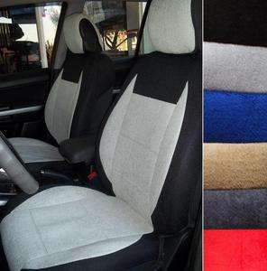 100% Cotton Towel Front Seat Covers for BMW E36 Convertible Black Grey