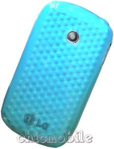 BLUE TPU Gel Skin Case Cover 4 NET 10 TRACFONE LG 800G
