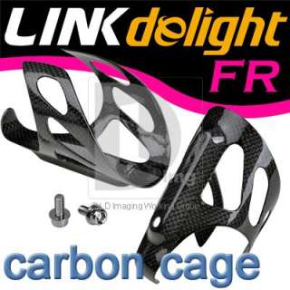 New Bike Bicycle Cycling Carbon Fibre Water Bottle Cage