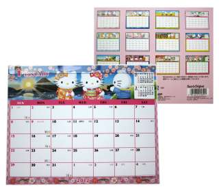 2012 Official Sanrio HELLO KITTY Desk Calendar made in Japan