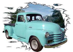 You are bidding on 1 1954 Blue Chevy Pickup Truck Custom Hot Rod