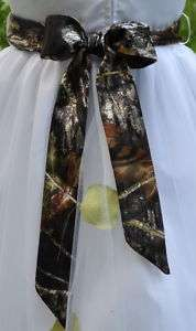 NEW Camo Wedding gown SASH  flowergirl/bridesmaid