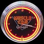 car neon signs clock