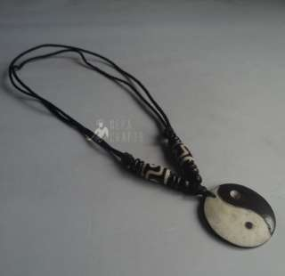 NBY Yak Bone Ying Yang Necklace Nepal