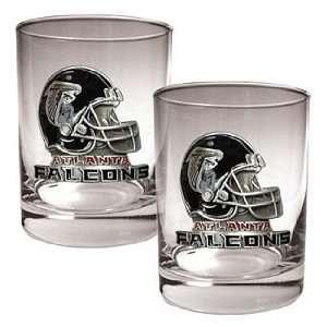 Atlanta Falcons NFL 2pc. Rocks Glass Set   Helmet logo