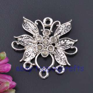 FREE SHIP 20pcs Tibetan Silver Flower Connectors TC1951