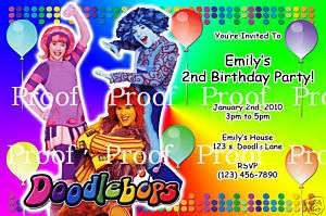 Doodlebops Birthday Invitations   Digital File Only