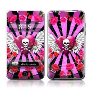 Skull & Roses Pink Design Apple iPod Touch 2G (2nd Gen