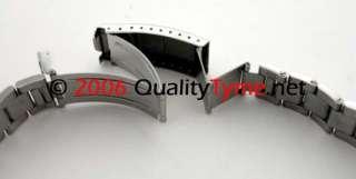 Mens Rolex Oyster Style Flip Lock Bracelet 316L Steel