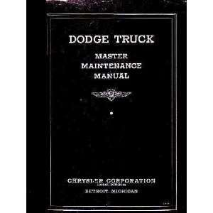 1934 1935 1936 Dodge Truck Factory Shop Service Manual
