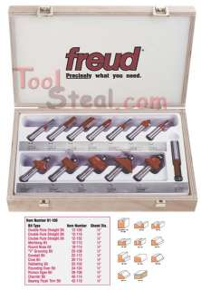 FREUD 91 100 3 Piece Professional Woodworking Router Bit Set BRAND NEW