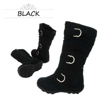 New Cute Comfort Junior Girls Casual Faux Suede Leather Boots Shoes
