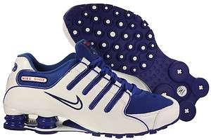 Mens Nike Shox NZ White/Royal Blue Running Tennis Sneaker 378341 404
