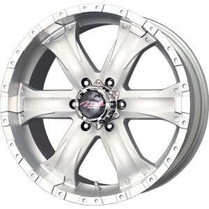 New 15X7 6 139.7 Mb Chaos 6 Lug Silver Machined Wheels/Rims