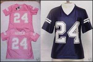 Marion Barber 24 Made By The DALLAS COWBOYS Women JERSEY Shiny Sz S XL