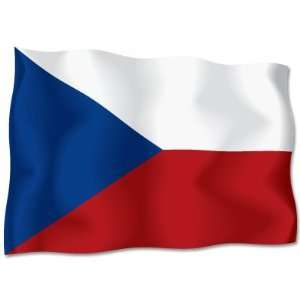 CZECH REPUBLIC Flag car bumper sticker decal 6 x 4