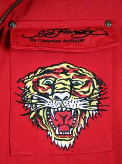 Ed Hardy Mens RED Death Before Dishonor Jacket S XXL