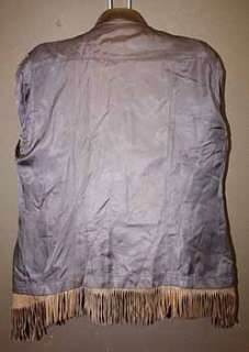 VTG WESTERN WILD BILL FRINGE LEATHER COAT/JACKET sz M