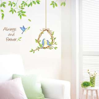 ALWAYS AND FOREVER BIRD TREE WALL DECALS STICKER SWST31