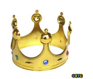 Royal Gold King Crown ~ HALLOWEEN KING COSTUME PARTY BIRTHDAY DRESS UP