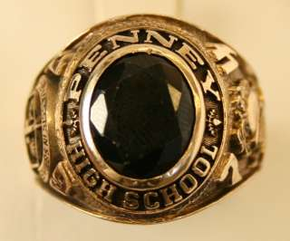 10K SOLID YELLOW GOLD 1974 PENNEY HIGH SCHOOL CLASS RING SIZE 9