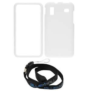 GTMax White Hard Rubberized Snap On Case + Neck Strap Lanyard AT&T