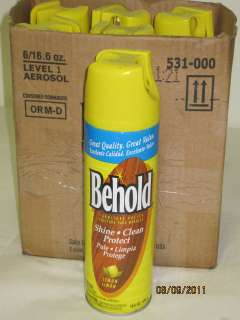 Behold Furniture Polish 6 16oz Aerosol