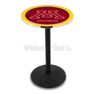 Minnesota Golden Gophers (L214) 42 Tall Logo Pub Table by Holland Bar