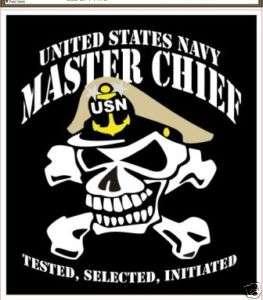 NAVY MASTER CHIEF PETTY OFFICER SKULL STICKER DECAL
