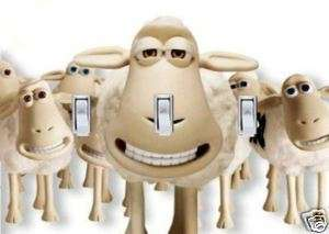 SERTA SHEEP TRIPLE SWITCH PLATE COVER