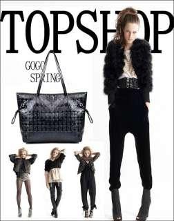 Skull Lady Clutch Handbag Women Bag PU Leather Tote Hobo Satchel Black