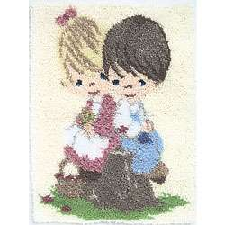 Precious Moments Love One Another Latch Hook Kit