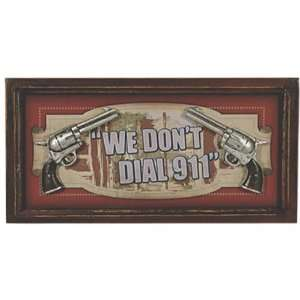 Rivers Edge Products We Dont Dial 911 3D Pub Sign  Sports