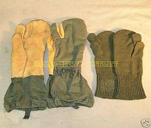 US Military Extreme Cold Weather Gloves TRIGGER FINGER MITTENS w