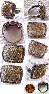 14K White Gold Ladies Diamond Ring 100+ Diamonds Unique NR