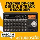 tascam dp 008 dp008 digital 8 track recorder w 2g