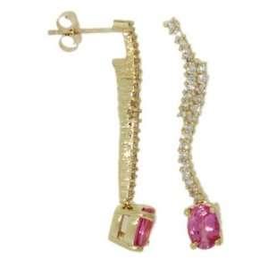 18k Yellow Gold 1.91 Ct Pink Sapphire & 0.66 Ct Diamond