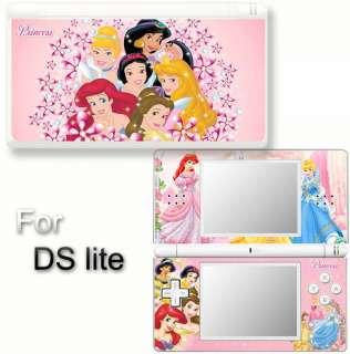 Princess Pink SKIN VINYL STICKER Nintendo DS Lite #1