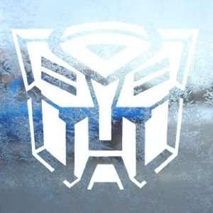 Transformers Autobot White Decal Car Window Laptop White
