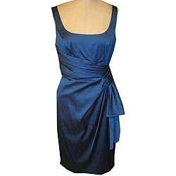 Maggy London Womens Satin Side drape Dress