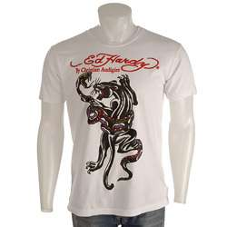 Ed Hardy Mens Snake and Panther T shirt