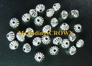 300 Tibetan Silver conrrugated bicone spacer bead FC300
