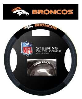 Denver Broncos Poly/Mesh Steering Wheel Cover