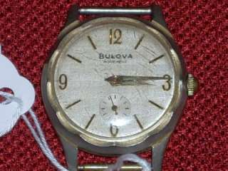 Vintage Bulova 10AX Movement 15 Jewels Mens Wrist Watch Gold Tone U.S