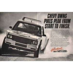 1990 Chevy Chevrolet Pickup Truck Pikes Peak 2 Page Print Ad (14559)
