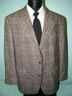 JOS A BANK Mens Jacket BLACK GRAY Windowpane Sport Coat CAMEL HAIR