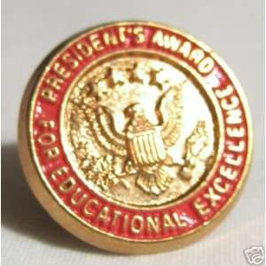 Presidents Award for Educational Excellence Gold tone Pin