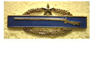 ARMY COMBAT INFANTRYMAN BADGE   2nd AWARD   BRIGHT